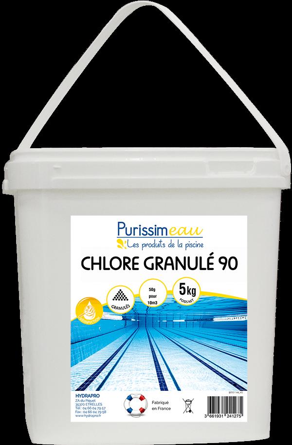 Chlore choc granul s 90 hydrapro - Anti algues piscine sulfate de cuivre ...
